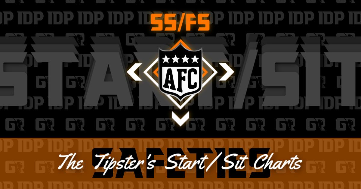 Fantasy Football Ranking WK13 Safety IDP AFC Start/Sit Charts