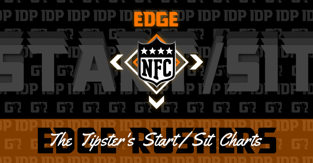 Fantasy Football's NFC Edge Rusher Championship WK16 Start/Sit Chart