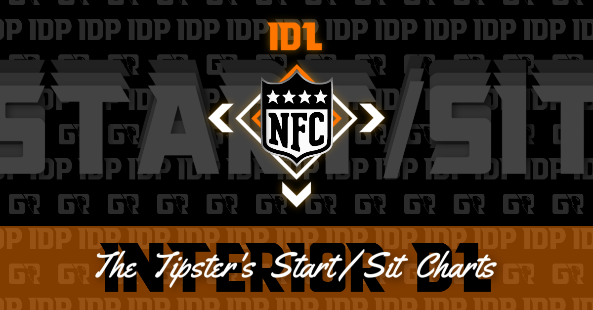 WK15 Fantasy Football IDP NFC Interior Defensive Lineman Start/Sits