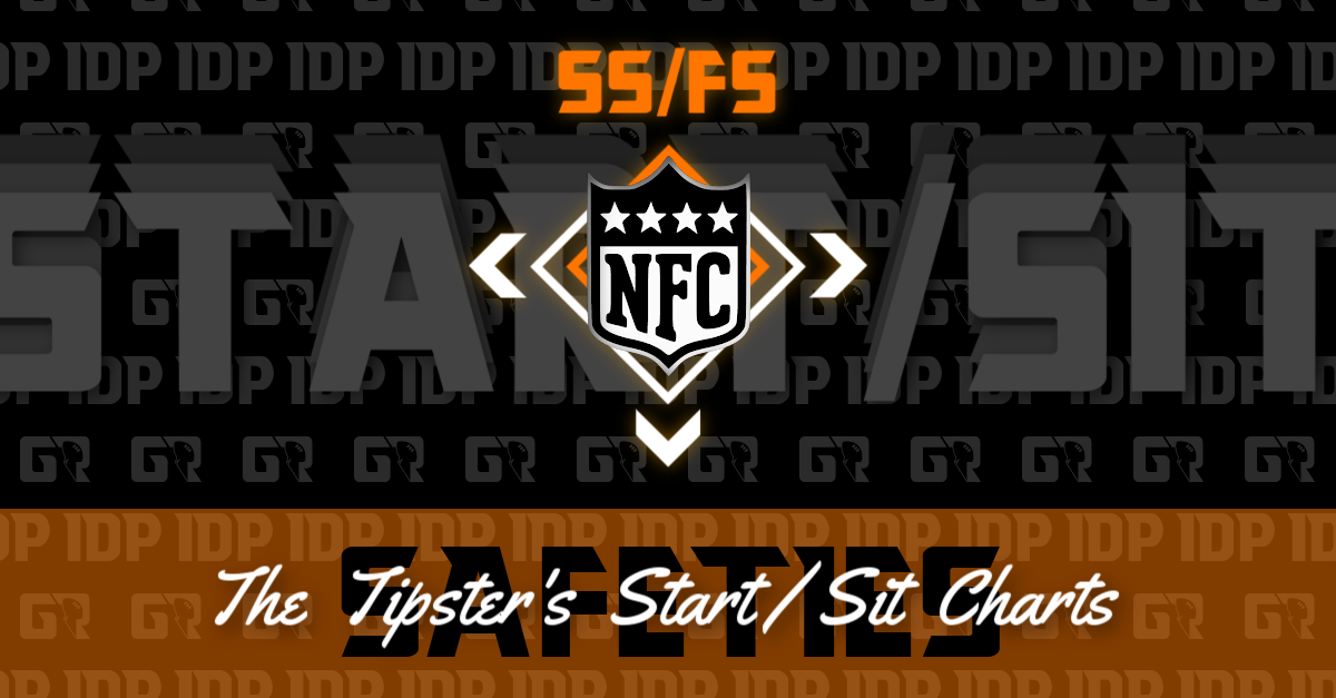WK14 Fantasy Football Rankings NFC Safety IDP Start/Sit Charts