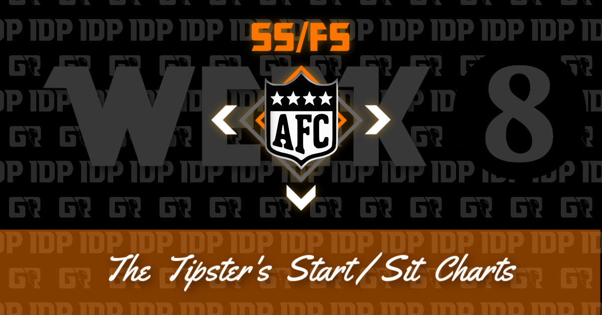 Fantasy Football's AFC Safety Championship WK16 IDP Start/Sit Chart